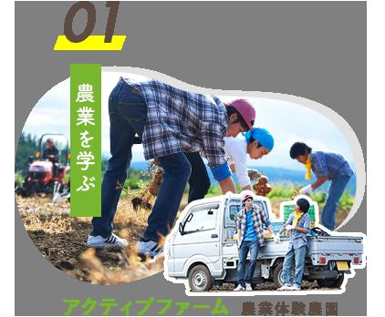 01.農業を学ぶ アクティブファーム 農業体験農園